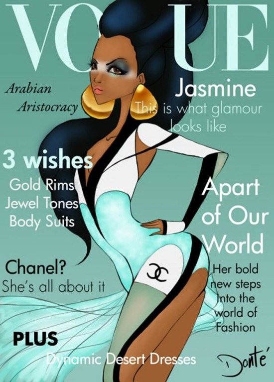 disney-princess-illustration-by-dante-tyler-fashion-covers-of-vogue-chicquero-jasmine