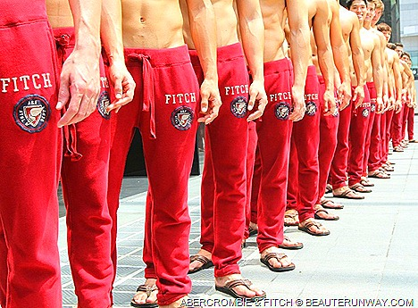 ABERCROMBIE & FITCH SINGAPORE KNIGHTSBRIDGE Shirtless men All-American lifestyle Men Women Kids