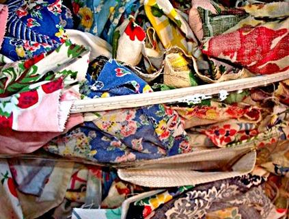 Vintage Scraps Bag