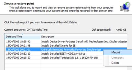 Free System Restore Explorer
