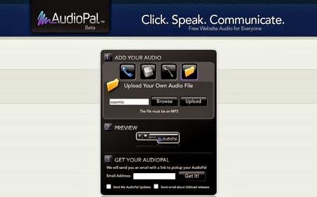 AudioPal - compartir mensajes de voz en tu blog