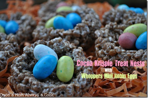 Cocoa Krispie Treat Nests
