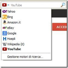 Barra di ricerca Firefox