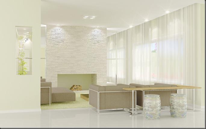 Interiores - área lareira