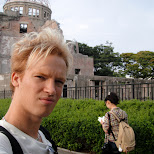 matt at the atomic bomb dome in Hiroshima, Hirosima (Hiroshima), Japan
