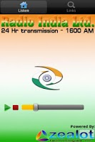 Screenshot of Radio India Live