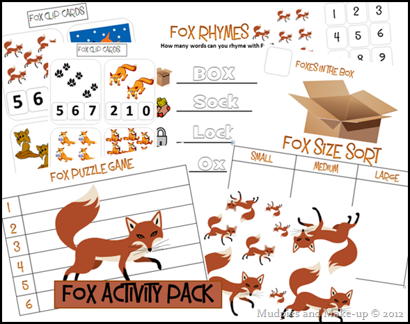 Fox Activity Pack