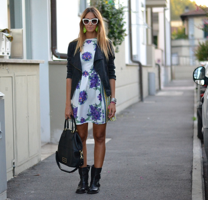 Primark, Primark Dress, Zara Sunglasses, Stradivarius Jacket, Strategia Biker Boots, Street and Chic Earrings, Fashion Blogger, Italian Fashion Blogger, Street style, Givenchy Style, Givenchy Bag