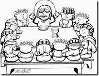 ultima cena jesus colorear (8)