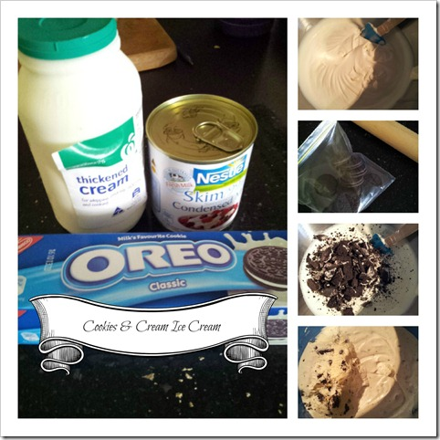 cookies and cream Collage