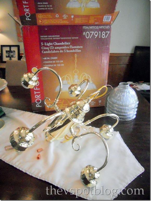 brass chandelier, diy chandelier project