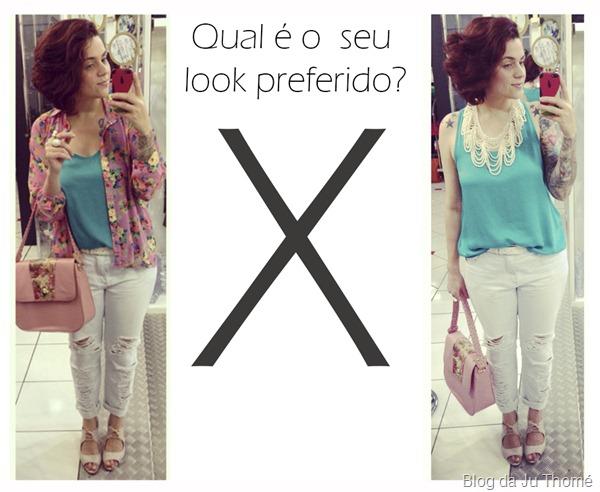 look jeans destroyed, camisa floral e blusa verde (4)