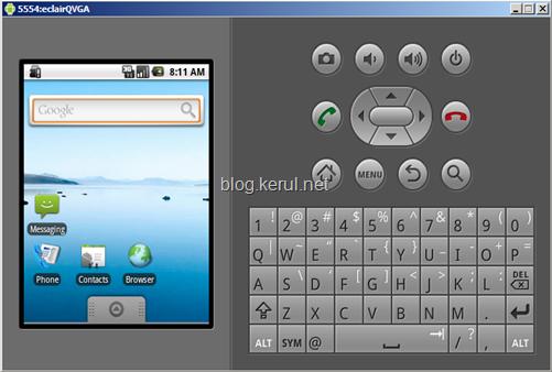 android emulator: running AVD