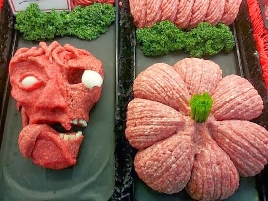 Esculturas de carne Halloween 01