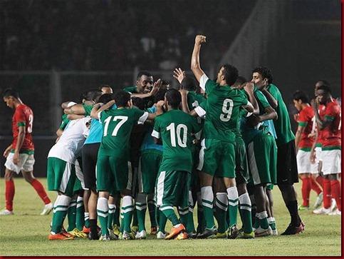 Garuda Indonesia Ditaklukan Arab Saudi 2-1