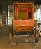Restauruojama grūdų kulimo mašina