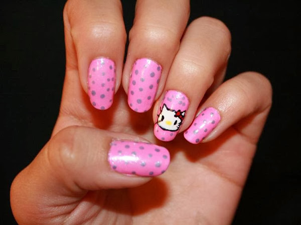 HelloKitty Pink Nail Designs Nail Designs Hello Kitty
