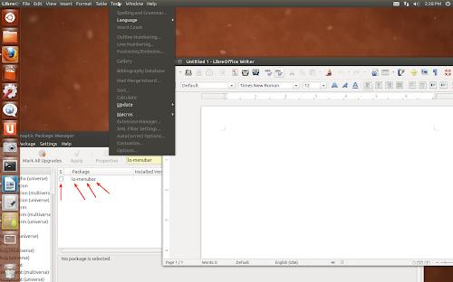 AppMenu di default su LibreOffice in Ubuntu 12.10