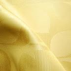 """Ekskluzywna tkanina typu """"tafta"""". Motyw roślinny - liście. Na zasłony, poduszki, narzuty, dekoracje. Szeroka. Złota."""