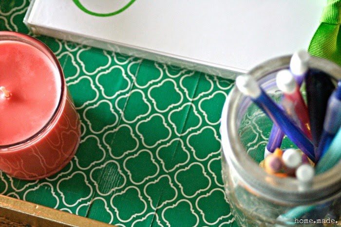 Moroccan Trellis Duck Tape Tray