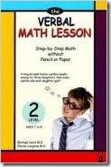 The Verbal Math Lesson