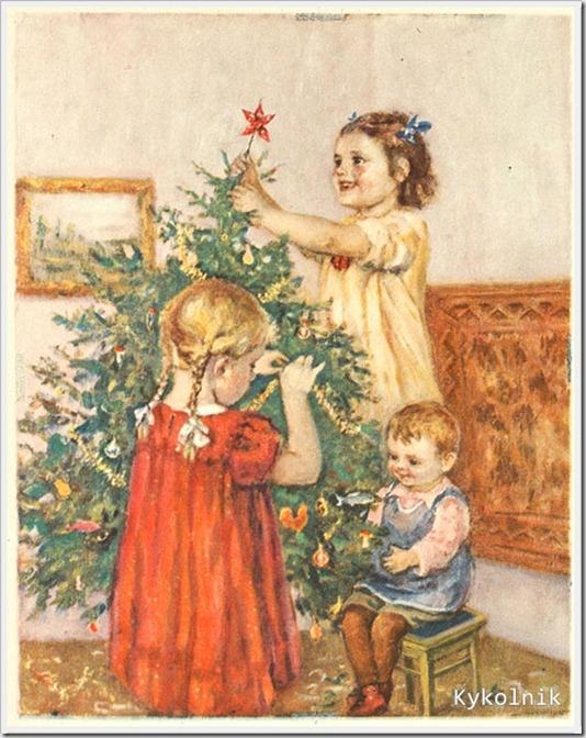 Неизвестный художник «Под новый год» журнал «Мурзилка» 1935 год (2)