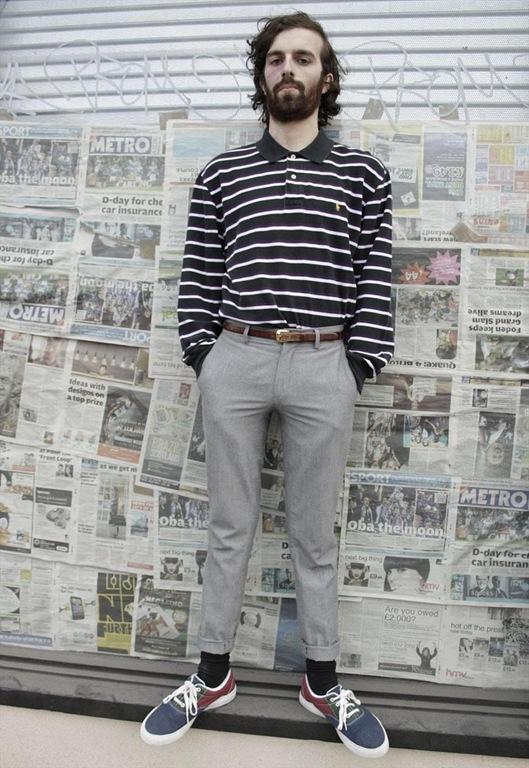 Vintage Ralph Lauren Long Sleeve Stripe Polo Shirt, £30, Sam Greenberg Vintage