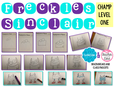 Go Noodle Brain Breaks Draw and Write 1