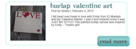 Burlap Valentine Art