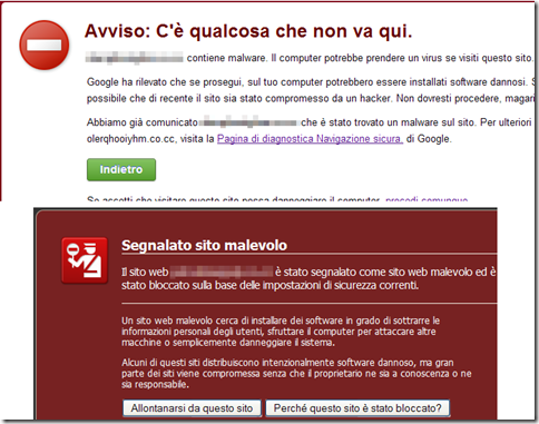 Google Chrome e Mozilla Firefox rilevano sito malevolo