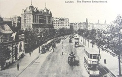 Vintage postcards London Thames embankment