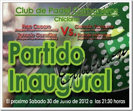 Germán Tamame inaugurará el Club de Pádel Carboneros en Chiclana de la Frontera partido