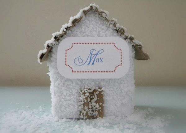 holiday house place cards via homework