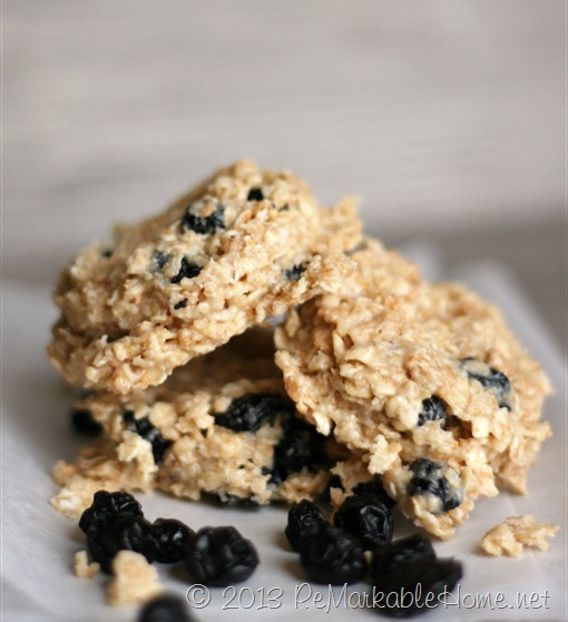 ReMarkable Home's Blueberry Cheesecake No-Bake Cookies