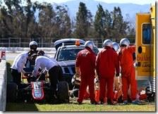 I soccorsi a Fernando Alonso