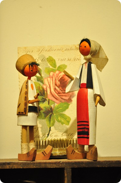 aldeanos madre e hijo