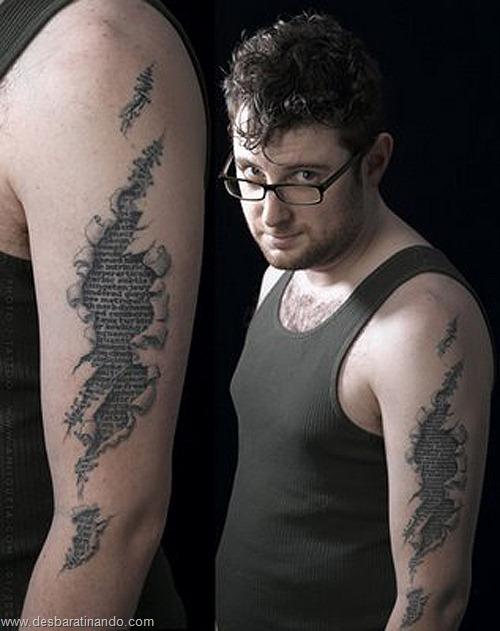 tatuagens ilusoes de otica optica ilusion tatoo desbaratinando  (15)
