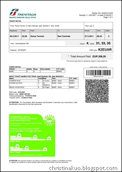 Italian train_8  ticket