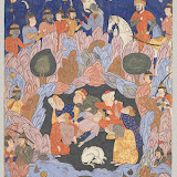 Falnama (The Book of Omens), Safavid period (1501–1732), 1550s Iran, Qazvin Ink, opaque watercolor, and gold on paper