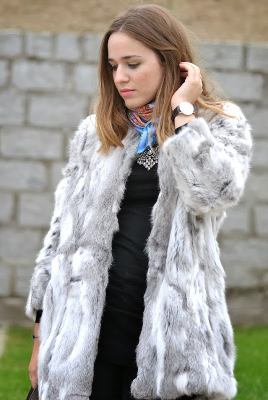 faux fur coat style in madrid hermes 2