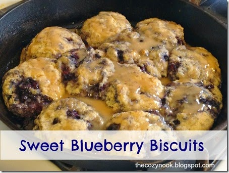 Sweet Blueberry Biscuits - The Cozy Nook