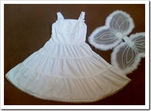 Pretty White Lace Dress and a pair of Angel Wings