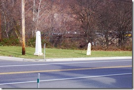 First Toll Gate House, toll gate post and mile marker post