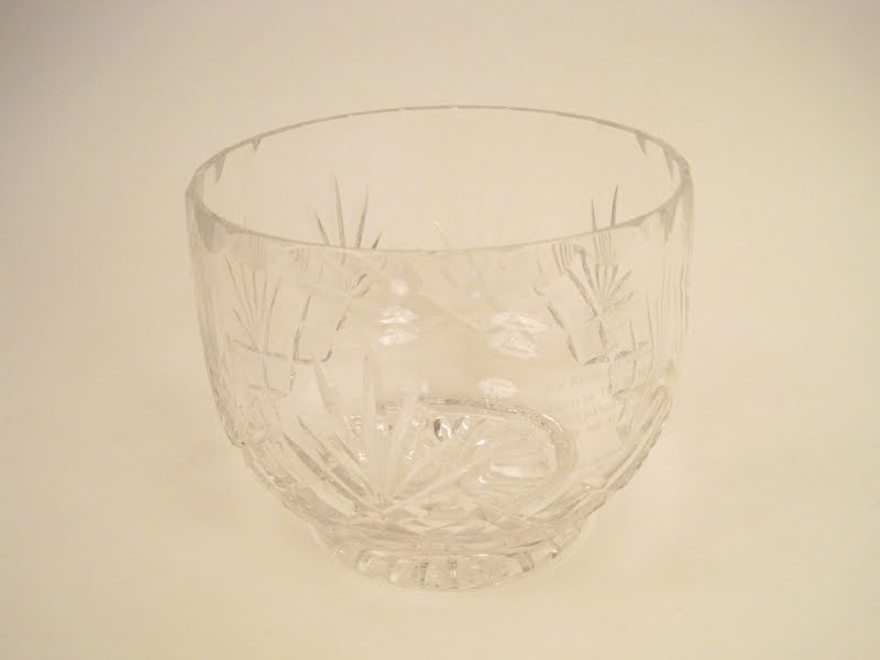 Regal Princess Inscribed Crystal Bowl