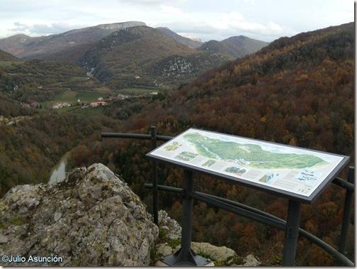 Mirador de Ariztokia - Valle de Aezkoa - panel de orientación