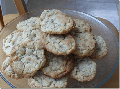 oatmeal coconut cookies plated