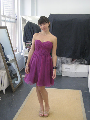 Another option we considered was a sweetheart neckline dress from Ivy & Astor.