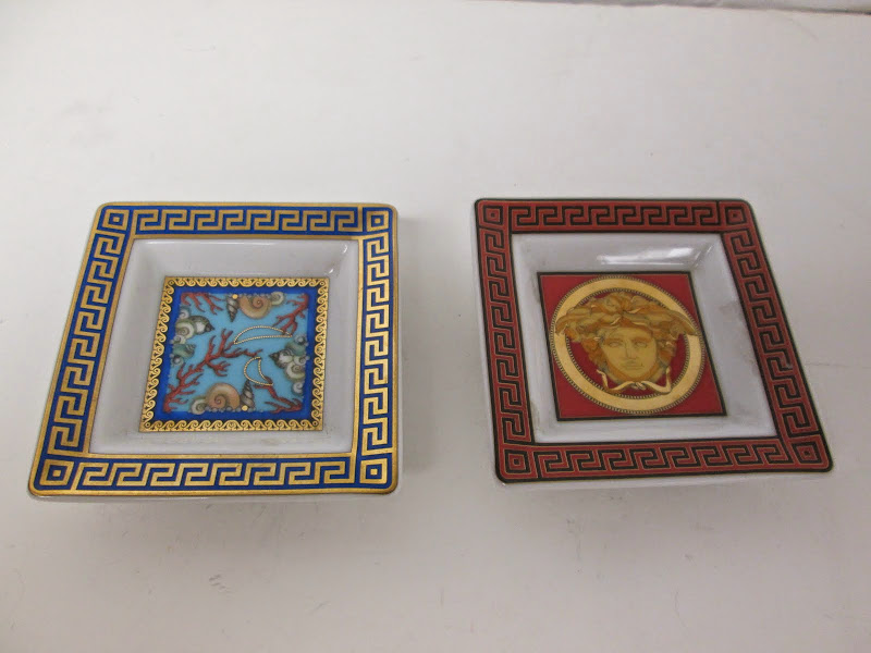 Versace Mini Ashtray Pair