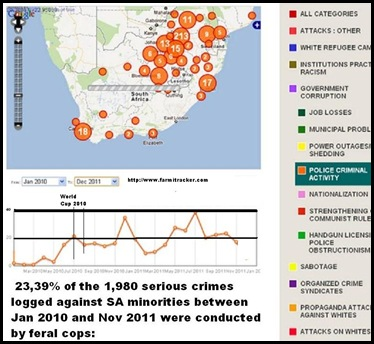 SAPS criminality against minorities Jan2010 to Dec 2011