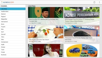 Screenshot of Kompas Touch (Kompas.com)